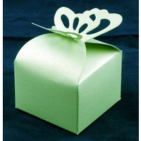 Favour Box  Butterfly Green (10)