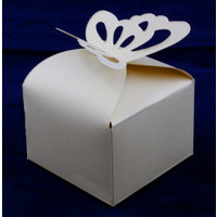 Favour Box  Butterfly Ivory (10)