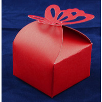 Favour Box  Butterfly Red (10)