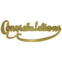 Plaque  Congratulations Gold (Pk 24)