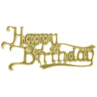 Plaque  Happy Birthday Gold Antique (Pk 24)