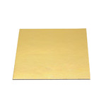 Slice Board 100mm Gold Square 1.5mm Thick (100)