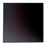 4mm MDF Board Black Square 6in