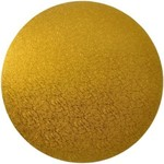 4mm MDF Board Gold Round 4in