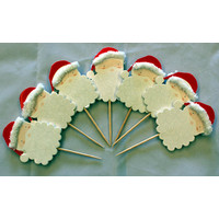 Cupcake Toppers Santa (Pkt 8)
