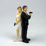 Mr and Mrs Smith Bride and Groom Topper