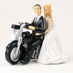 Highway to Love Bride and Groom Topper