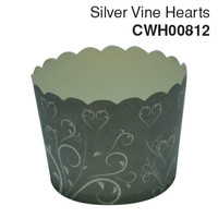 Cupcake Case Silver Vine Hearts Ctn 600pc