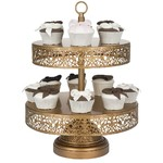 Victoria Gold 2 Tier Cupcake Stand