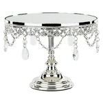 "Le Gala Mirror 10"" Silver Cake Stand"
