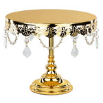 "Le Gala Crystal 10"" Gold Cake Stand"