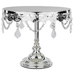 "Le Gala Crystal 10"" Silver Cake Stand"