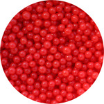 Cachous 4mm  Shiny Red Hangsell 50g