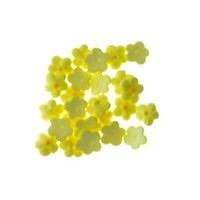 Flower  5 Petal Baby Yellow 1cm (150)