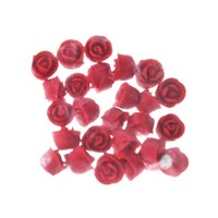 Rose  Whirl Baby Red 1.3cm (Bx 150)