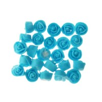 Rose  Whirl Baby Blue 1.3cm Hangsell 25pc