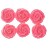 Rose  Pink Swirl Small 1.5cm (Bx 128)