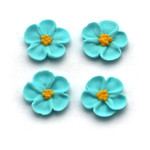 Flower  5 petal Blue Small 2cm (Bx 200)
