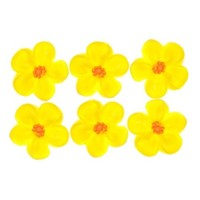 Flower  5 petal Lemon Small 2cm (Bx 200)