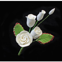 Rose Spray  White Mini 50mm (Bx 20)