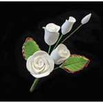 Rose Spray White 50mm Mini (1)