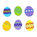 Easter Eggs Assorted 30mm (180)