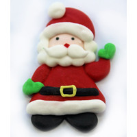 Santa Waving Sugar Decoration 25mm (Box 180)