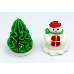 3D Christmas  25mm Snowman  & 35mm Tree (32)