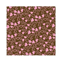 Choc Transfer Sheet  Tiny Hearts Pink (Ea)