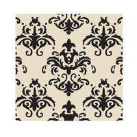 Choc Transfer Sheet  Black Damask (Ea)