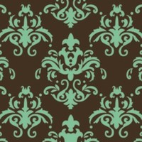 Choc Transfer Sheet  Teal Damask (Ea)