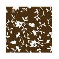 Choc Transfer Sheet  Ornate White Flower (Ea)
