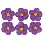 5 Petal Flower Lavender 33mm (128)