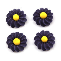 Flower Daisy Swirl 25mm Purple (Bx 180)