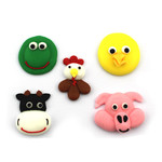 Farm Animal Faces Assorted 33mm (Box 96)