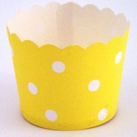 Cupcake Case Yellow Polka Dot Ctn 600pc