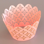 Cupcake Wrapper Pearl Pink Sun Flower(12)