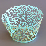 Cupcake Wrapper Pearl Baby Blue (12)