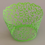 Cupcake Wrapper Pearl Spring Green (12)