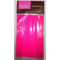 Lolly Sticks  150mm Hot Pink (25 pk)