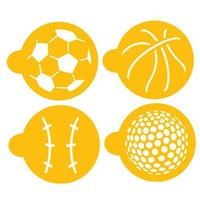 Stencil  Large Sport Ball Cupcake/Cookie Set
