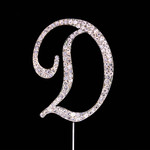 Bling Diamante 7cm Letter D