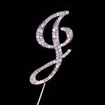 Bling Diamante 7cm Letter J