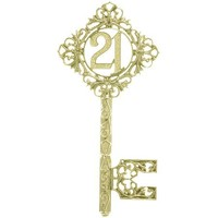 21st Key  Diamond  150mm Gold (Ea)