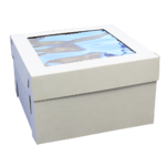 "Cake Box 12x12x8"" with Window - Heavy Duty"