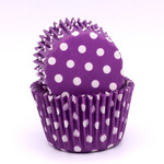 Patty Pan Purple Polka Dots 6x50pk (300)