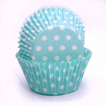 Patty Pan Blue Polka Dots 6x50pk (300)