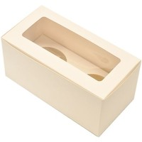 Cupcake Box Premium 2up w/insert White (120)