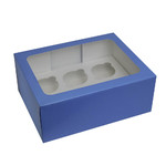 SFD Cupcake Box 6up w/insert BLUE (6)