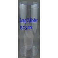 6 Macaron Box Cylinder Clear  Pack of 20